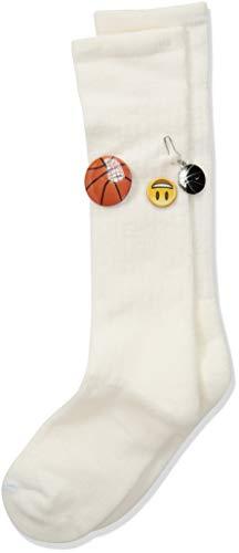 (Thorlos Junior's Express Yourself Basketball Over The Calf Socks, white, Medium)