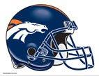 "NFL Denver Broncos 4.5"" x 6"" Team Helmet Ultra Decal Cling"