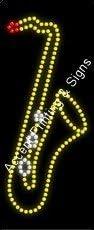 High Impact, Energy Efficient Saxophone Logo LED Sign