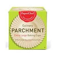 Paper Chef Extra Large Parchment Baking Cups - 30 per pack -- 12 packs per case.