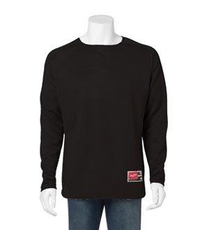 Rawlings 9705 Men's Long Sleeve Flatback Mesh Fleece Pullover Black 3XL Rawlings Black Home Plate
