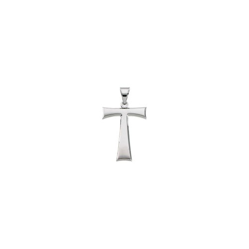 Sterling Silver 19x16mm Polished Tau Cross Pendant