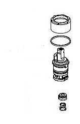 Delta RP64772 Talbott Stem Unit Assembly, Seat and Spring, Bonnet Nut and Washer, Chrome by DELTA FAUCET