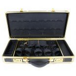 HairArt Barber Case Black & Gold Frame, 791530 Barber Kit Tool Case, Black & Gold, Tools Not Included