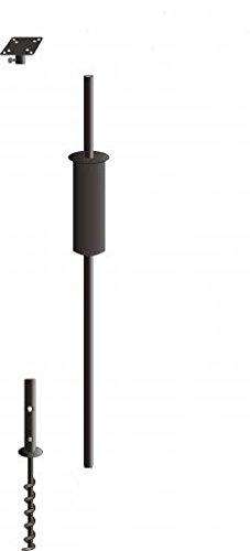 60in Black Poles - Birds Choice Bird Feeder Pole Kit for one feeder, Black, 60-inch