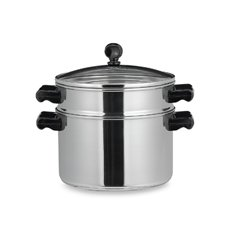 Farberware® Classic Series II Stainless Steel Stack & Steam 3 Quart Saucepot and Steamer Insert with Glass Lid