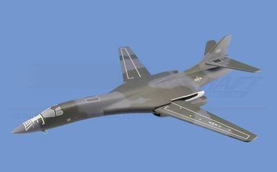 B-1B Lancer - USAF, (Swing-Wing) Aircraft Model Mahogany Display Model / Toy. Scale: 1/100