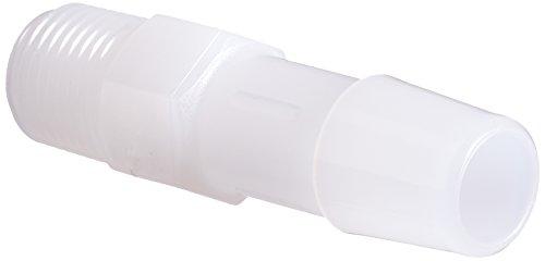 Eldon James A2-6HDPE High Density Polyethylene Adapter Fitting, 1/8-27 NPT to 3/8 Hose Barb (Pack of 10)