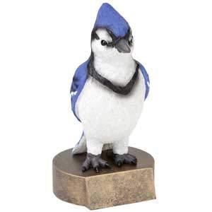 Trophy Crunch Blue Jay Mascot School Gift & Award - Free Custom Engraving