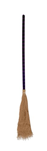 Beistle Witch-Feet Broom, 3-Feet - Witch Broom Accessory Costume