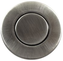 Garbage Disposal Sink Top Air Switch Button for Thicker and Standard Counter Tops. Available in 25+ Finishes Matching any Faucet. Universal Fit Unit. MODEL # ASBO (Standard 2-Inch, Pewter) by NORTHSTAR DECOR (Image #1)