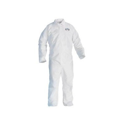 KCC49104 - KIMBERLY CLARK Kleenguard A20 Ebc Coveralls, Microforce Sms Fabric, White, Xl