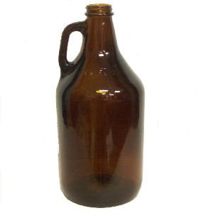 Strange Brew Home-Brew Home Strange Brew's 1/2 Gallon Amber Growlers (Case of 6) with Polyseal Caps, 64oz