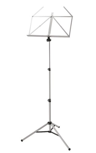 K & M Heavy Duty Music Stand Regular - Chrome Music Stand