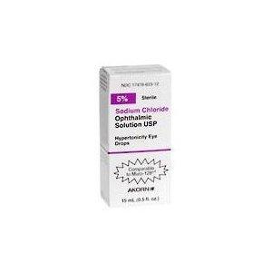 Chlorure de sodium 5% solution ophtalmique - 15 ml