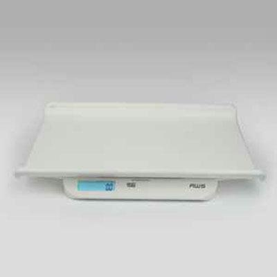 American Weigh Scales PW-44 Digital Infant/Toddler Scale 44 Pound Capacity with Batteries, White, 4.09 Pound