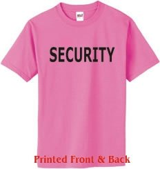 S.Horizon-SECURITY T-Shirt - 2 SIDED~Azalea~Youth-LG (Youth Heavyweight Azalea T-shirt)
