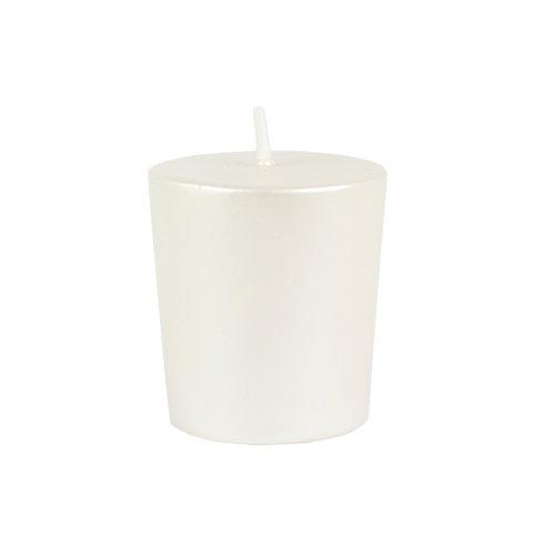 Zest Candle 12-Piece Votive Candles, Pearl White