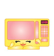 Shopkins Season 2 022 Pink Zappy Microwave Ultra Rare