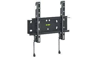 "Barkan 13""- 39"" Fixed Flat/Curved TV Wall Mount, Up to 88 lbs, Black, Spring-Locked."