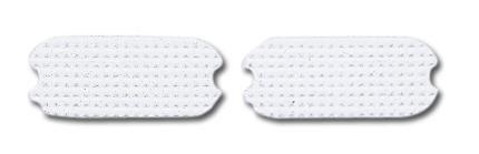 Perri's White Fillis Stirrup Pads, White, 4 1/4-Inch - Stirrup Pads