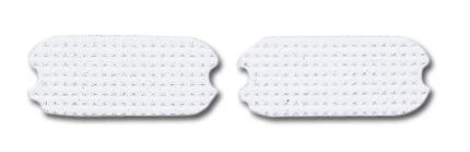 Perri's White Fillis Stirrup Pads, White, 4 -