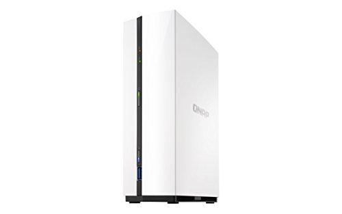 QNAP TS-128A NAS Mini Tower Ethernet Blanco Servidor de Almacenamiento - Unidad Raid (Unidad de Disco Duro, Serial ATA III, 3.5