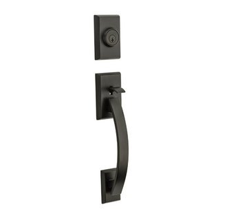 Kwikset 800TVH/966C-11P Venetian Bronze Tavaris Single Cylinder Handleset with Copa Knob (Copa Knob Single Cylinder)