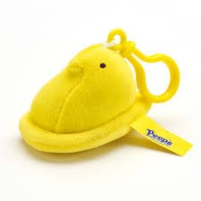 Peeps Chick Plush Mini with Backpack Clip - (Plush Clip)