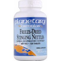 Freeze Dried Stinging Nettles, 120 Tabs by Planetary Herbals (Pack of 3)