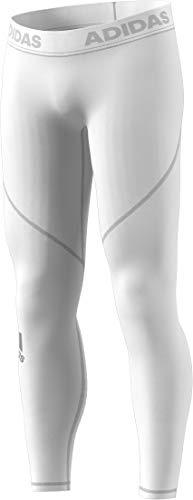 adidas Mens Training Alphaskin Sport Long Tights, White, Medium