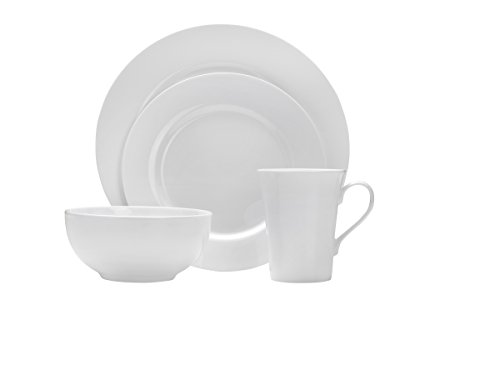 White China Plate - Mikasa Delray 40-Piece Bone China Dinnerware Set, Service for 8