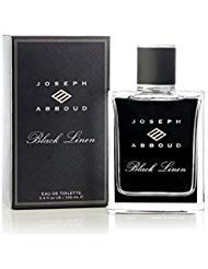 (Joseph Abboud Black Linen Eau de Toilette - Cologne Fragrance Spray for Men - With an Addictive Blend of Grapefruit and Clary Sage, Grounded in Masculine Notes of Haitian Vetiver - 3.4 oz 100 ml)