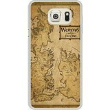 Galaxy S6 edge+ Case - game of thrones book maps White Cell Phone Case Cover for Samsung Galaxy S6 edge Plus