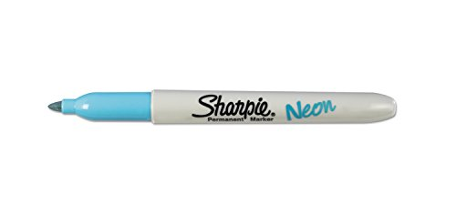Sharpie Sharpie Neon Fine Point Permanent Marker, Open Stock, Blue (1860448)