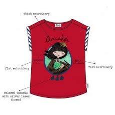 Suncity Camiseta ni/ña roja anekke