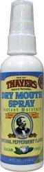 Thayers Dry Mouth Spray Peppermint Sugar Free w/Pump 4 oz by