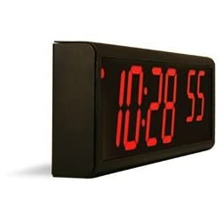 Inova Solutions 6-Digit PoE Network Clock - Black Aluminum - Red LEDs