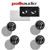 Polk Audio 70-RT + Polk Audio 255C-RT 5.0 Vanishing Series In-Ceiling / In-Wall Home Theater Speaker Package by Polk Audio
