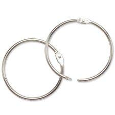 BAU31425 - Baumgartens Hinged Metal Book Ring