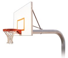 最初チームBrute Impervia steel-aluminum in ground固定高さバスケットボールsystem44 ;スカーレット B01HC0C364