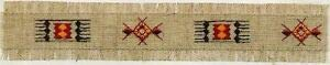 Southwestern Tiger - VirVenture Southwestern Rug Design Embroidery Patch Strip Great for Hats, Backpacks, and Jackets.