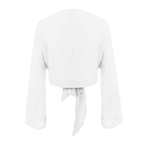 Manches Longues avec T T Shirt Capuche Femmes pour Blanc Shirt Trydoit Sweat EqB6xwA
