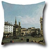 (Throw Cushion Covers 20 X 20 Inches / 50 By 50 Cm(twin Sides) Nice Choice For Club,bar,gril Friend,kids Girls,him,study Room Oil Painting Bernardo Bellotto - The Piazza Della Signoria In Florence)