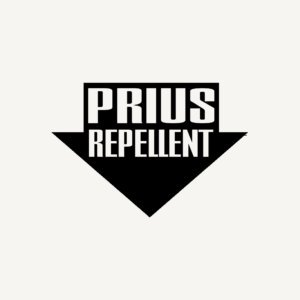 Prius Repellent PREMIUM Decal 5 inch WHITE   Diesel   Roll Coal   Rollin Coal   Power Stoke   Cummins   Redneck   car truck van laptop macbook bumper sticker