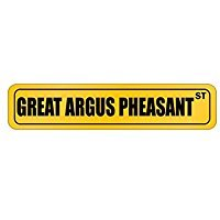 Great Argus Pheasant ST - Animals - Street Sign [ Decorative Crossing Sign Wall Plaque ]