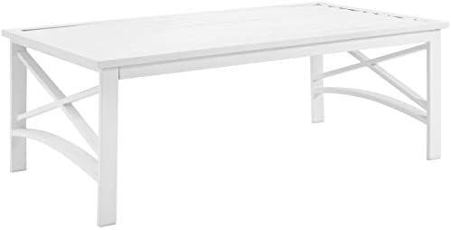 Crosley Furniture CO6207-WH Kaplan Outdoor Metal Coffee Table