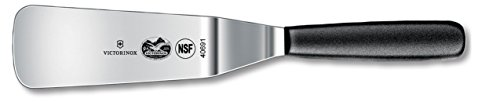 OKSLO Offset spatula/turner, 6-inch, black polypropylene handle, high carbon stainless