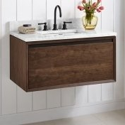 Fairmont Designs 1505-WV36 m4 36'' Wall Mount Vanity - Natural Walnut by Fairmont Designs