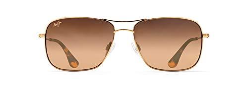 Maui Jim HS246-16 Gold/HCL Bronze Lens Wiki Wiki Aviator Sunglasses Polarised